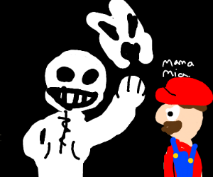 Sans fighting Mario