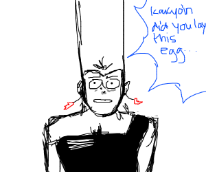 Polnareff questioning Kakyoin about his egg