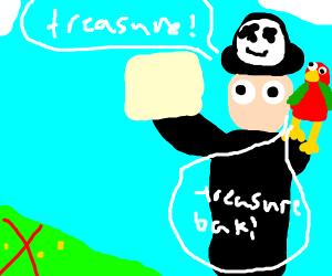 traveler on quest for treasure