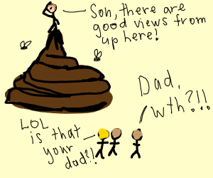 Dad in poop likes to embarrass his kid