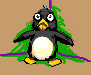 scared penguin