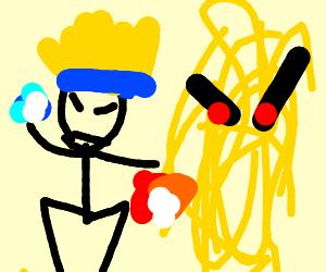 Naruto in a ramen battle
