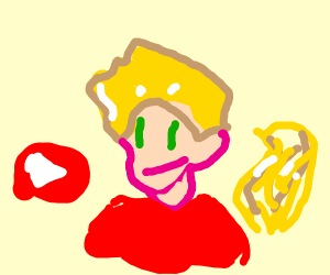 drawing YouTuber who has blonde hair