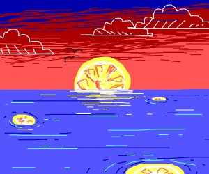 lemon sunrise/sunset