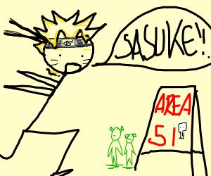 Naruto looks for Sasuke at Area 51