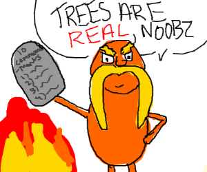 The Lorax destroys the Ten Commandments