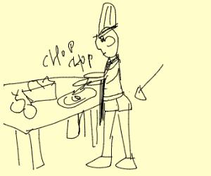 A chef's underwear
