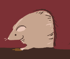 Fat mouse stuck in a hole