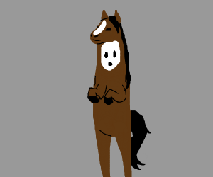 Ghost wearing horse costume