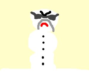 Angry Hulk Hogan snowman