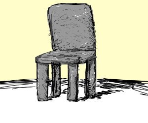 chair made of stone