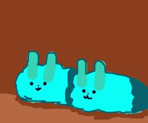 Blue Bunny Slipper