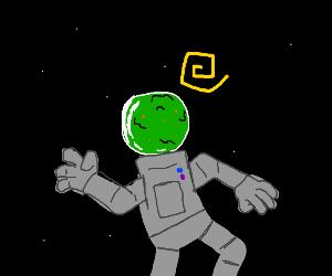Vomiting spaceman