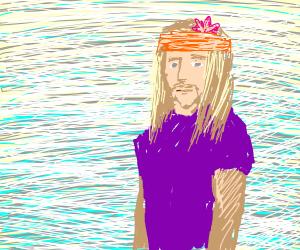 Dude With A orange flower headband