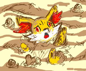 Fennekin drowning in quicksand