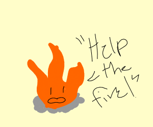 """""""Help the fire!"""" Fire says."""