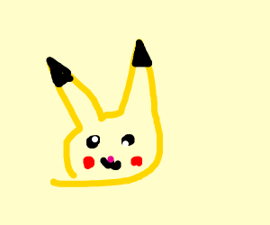 weird looking pikachu