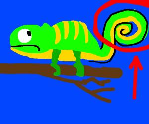 charmeleon's tail is backwards