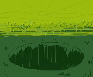 grass hole