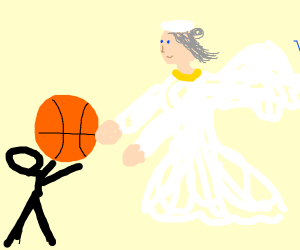 Playing Basketball with an Angel