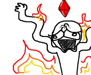 Sim, on fire