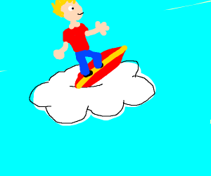 Jazza Surfing The Clouds Drawception