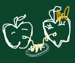 Lady and the Tramp, but apple