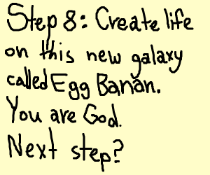 Step 7: create a galaxy called Egg Banan