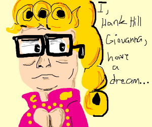 Hank Hill as Giorno Giovanna