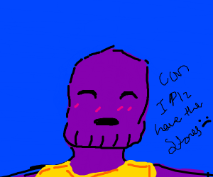 Thanos asks nicely for stones