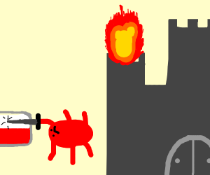 Red spider ends Poland next to castle on fire