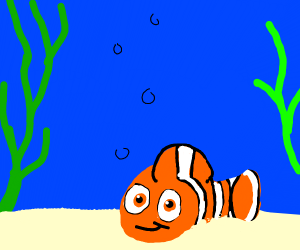 Nemo playing in the Sand