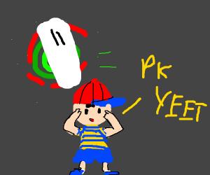 Ness uses PK YEET