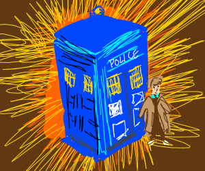 tenth doctor and TARDIS