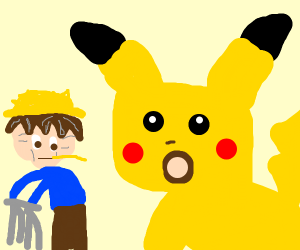 that pikachu :o meme with old hilbilly ash