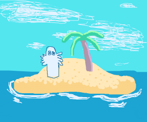 Ghost on a beach