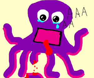 someone cut off the squids tentacles!