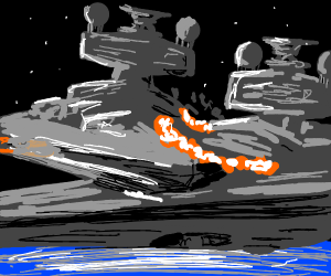 two star destroyers collide