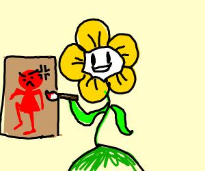 flowey paints anger