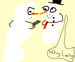 snowman is shot dead by another snowman