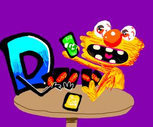 Drawception D plays Uno with Yellmo