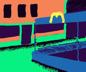 The painting Night hawk except McDonald's