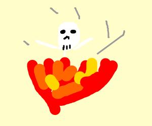 Skeleton in a Fire