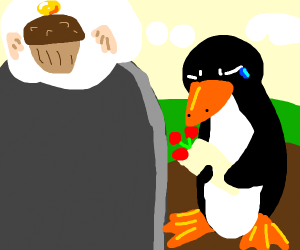 Penguin feels remorse for muffin