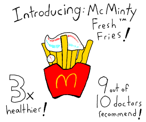 mcdonalds fries with tooth paste