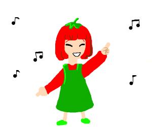 GenmaiChai's Tomato-Girl dancing