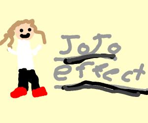 jojo effect in metal letters