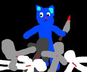 blue cat man kills everybody