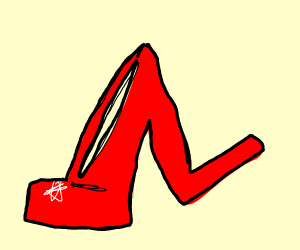 lopsided high heels