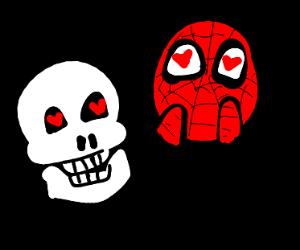 Skeleton calls Spiderman handsome